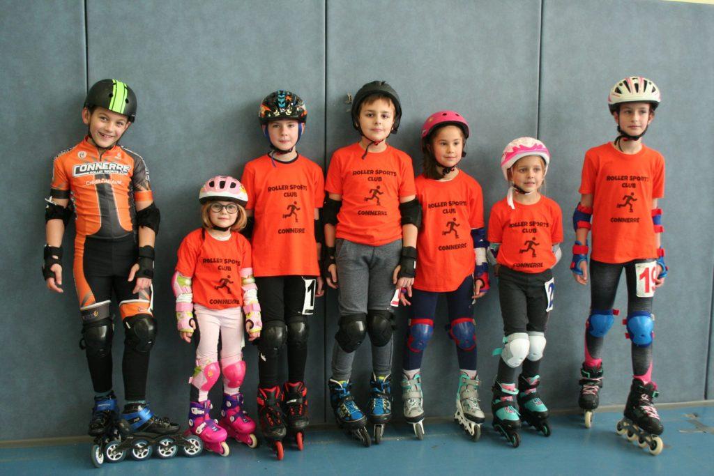 Patineurs de Connerré au Kids roller de La Flèche le 11/01/2020